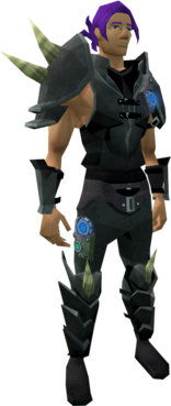 Augmented Dharok's equipment equipped