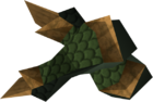 Blessed dragonhide vambraces (Bandos) detail
