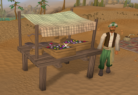 Gem trader stall old