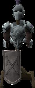 Intricate decorative armour stand