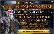 Loyalty shop merge reminder ad