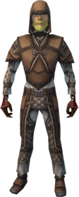 Soft leather armour (vambraces) (male) equipped