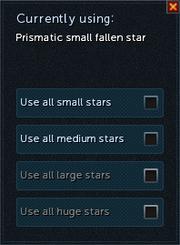 Prismatic fallen star selection