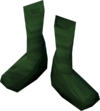 Silken boots (green, female) detail
