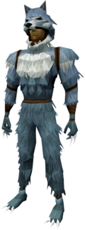 Werewolf outfit (dark grey, male) equipped
