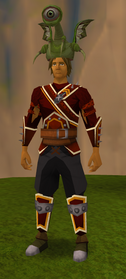Hardened ranger hat equipped