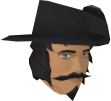 Musketeer's hat (blue, male) chathead