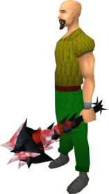 Off-hand drygore mace (blood) equipped