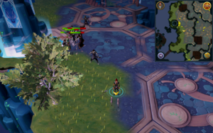 Scan clue Heart of Gielinor directly east of Telos entrance