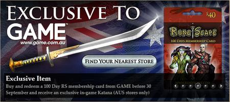 Australia katana offer