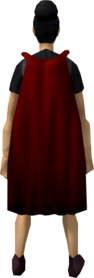 Fremennik cloak (red) equipped
