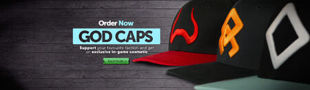 God Caps head banner