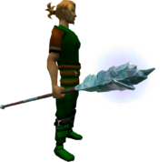 Ice Staff equipped