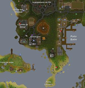 Rimmington mapa