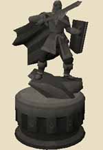 Rough-hewn melee statue