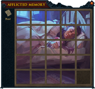 Afflicted memory puzzle