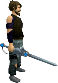 Augmented chaotic longsword equipped