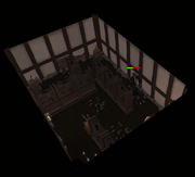 Flying knife room