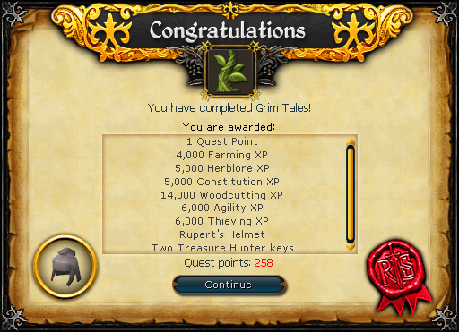 Grim Tales reward