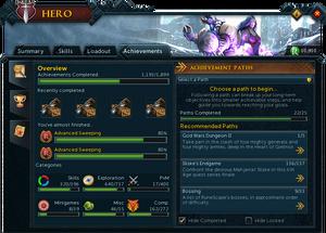 Hero (Achievements) interface