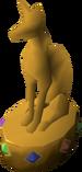 Jewelled golden statuette detail