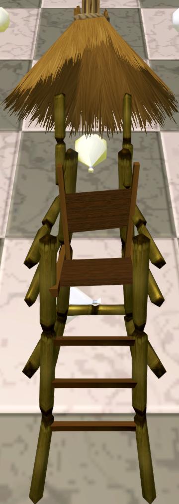 Lifeguard chair head token detail
