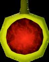 Ruby amulet (unstrung) detail