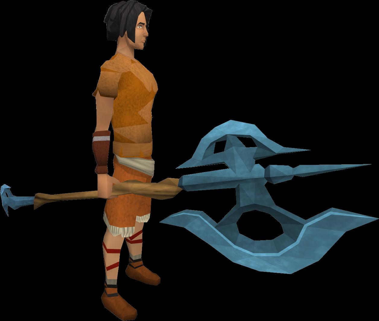 Rune halberd equipped