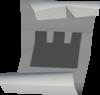 Castle wars ticket (silver) detail