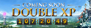 Double XP countdown lobby banner 2