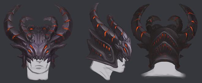Helm of corruption concept art