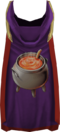 Hooded cooking cape (t) detail