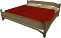 Large teak bed built