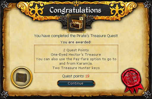 Pirate's Treasure reward