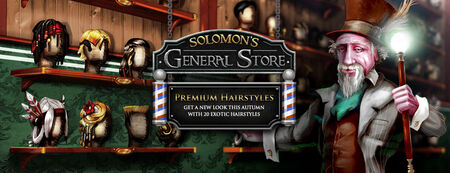Solomon's General Store hairstyles banner