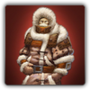 Warm winter outfit icon