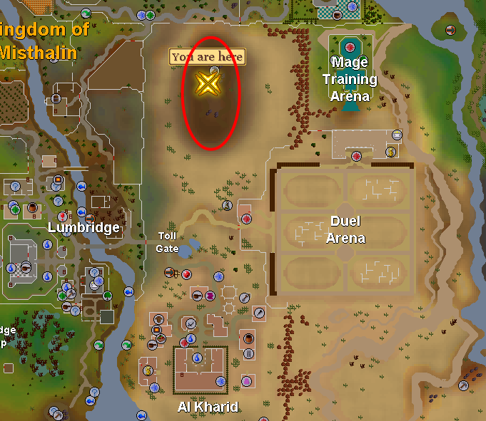 Al kharid mine vindplaats