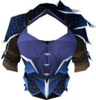 Blue dragonhide body (t) detail