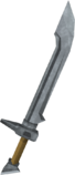 Cimitarra de aço detalhe