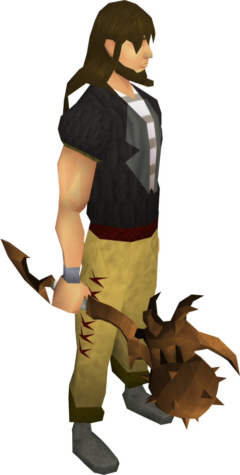 Corrupt dragon mace equipped