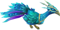Crystal peacock pet