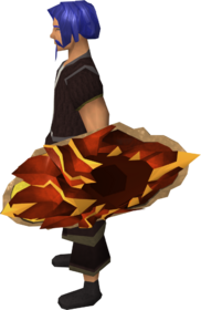 Escudo de fogo do dragão equipado (descarregado)