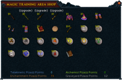 Magic Training Arena Shop