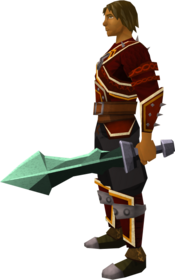 Off-hand adamant ceremonial sword III equipped