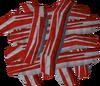 Raw bacon mound detail
