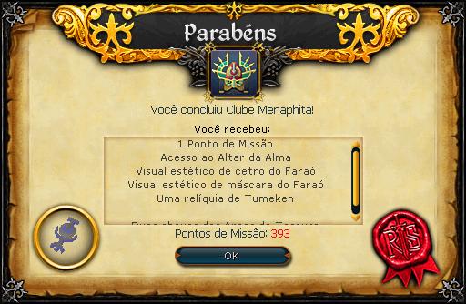 Recompensas Clube Menaphita