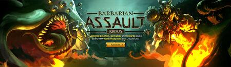 Barbarian Assault Redux head banner