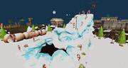 Christmas 2014 snowboarding ramp
