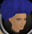 Dark blue afro chathead