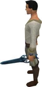 Off-hand rune sword equipped